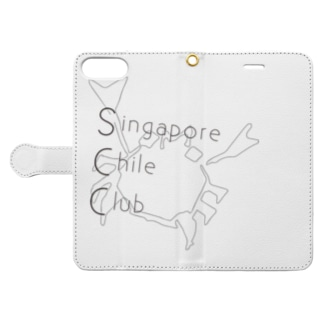 シンガポールチリクラブのグッズのシンガポールチリクラブのグッズ Book-style smartphone caseを開いた場合(外側)