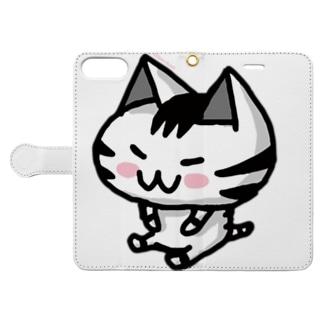 よりぬきちびギャラリー お座りボン Book-style smartphone case