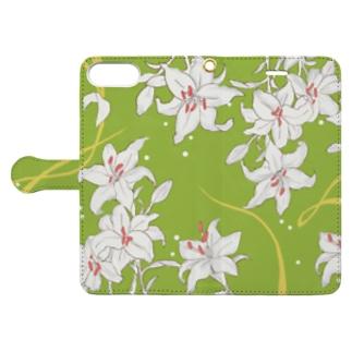 ユリ×GREEN Book style smartphone case