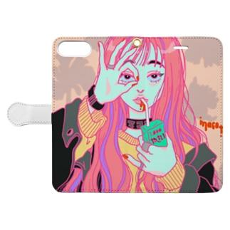 やさいのみ子 Book style smartphone case