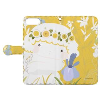 温かな色合い『燕子花(かきつばた)と少女』 Book-style smartphone case