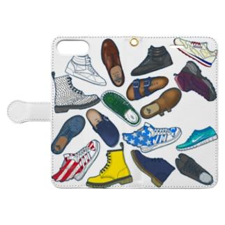 arumikon の 靴 Book-style smartphone case
