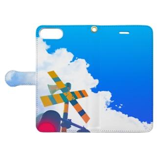 夏の踏切 Book-style smartphone case