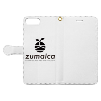zumaica Black スペイン語 Book-style smartphone case