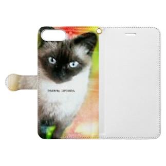 うちのモモ Book-style smartphone case