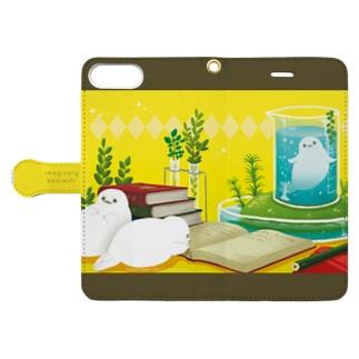 勉強してみたいアザラシ・手帳型ケース Book-style smartphone case