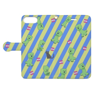 creeper - blue and yellow Book-style smartphone case