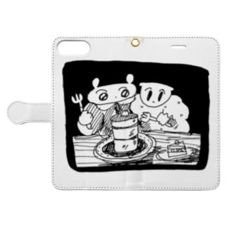 隣のケーキはウマい!(たぶん) Book style smartphone case