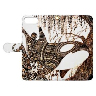 鯱植物図 Book-style smartphone case