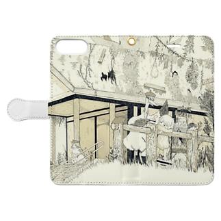 オリジナルiphoneケース [色なし] Book-style smartphone case