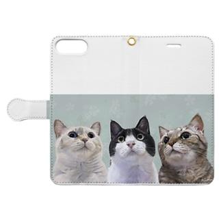 ロージーちゃんダリルちゃんルーシーちゃん Book-style smartphone case