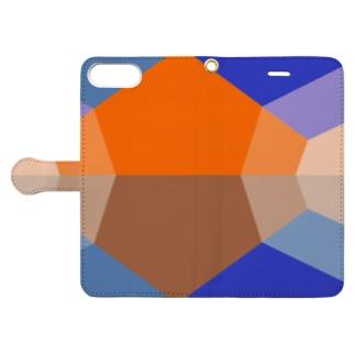 朝焼けの山 Book-style smartphone case