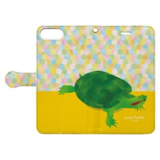 Love Turtle TypeB  カラフル Book-style smartphone case