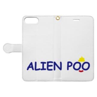 ALIEN POO Book-style smartphone case