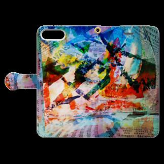 キューブ・ザ・双頭の裸のランチ Book-style smartphone caseを開いた場合(外側)