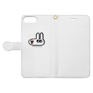 うさぽん(ノーマル) Book-style smartphone case