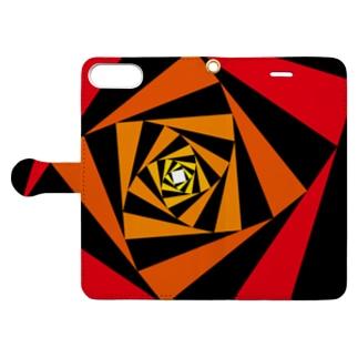 スパイラルかざぐるま(カラーA) Book-style smartphone case