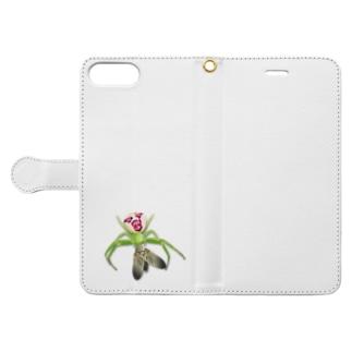 いたずらデザイン(ちょっとハナグモついてますよ) Book-style smartphone case
