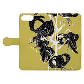 黒百合 Book-style smartphone case