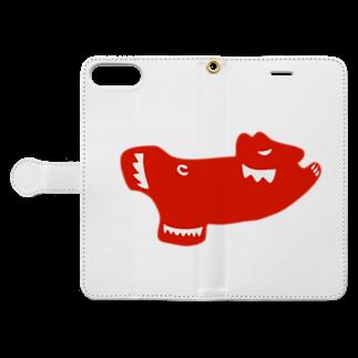 KashikoiのSkating Polar Bear Book-style smartphone caseを開いた場合(外側)
