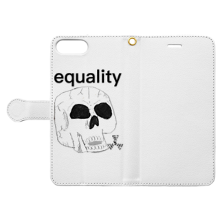 GOD TV MEAT OIL'S brand SUZURI内空中店舗のequality-スカル Book-style smartphone caseを開いた場合(外側)