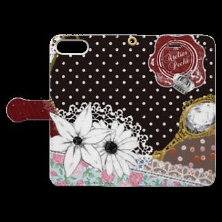 Atelier Pechi / アトリエ・ペチのScarf Pattern Book-style smartphone caseを開いた場合(外側)