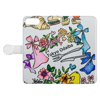 odaiba party amuse Book-style smartphone case