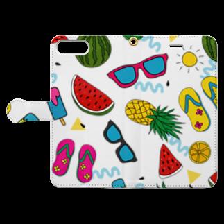 LOFT KEITHの夏手帳! Book-style smartphone caseを開いた場合(外側)