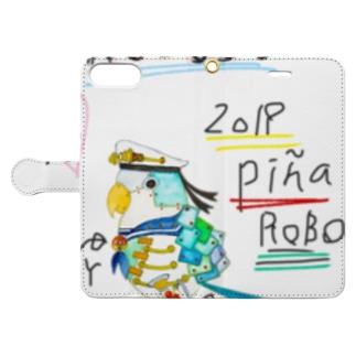 ROBOBO「ぴにゃロボ」 Book-style smartphone case