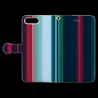 かすみ草の極彩 Book-style smartphone caseを開いた場合(外側)