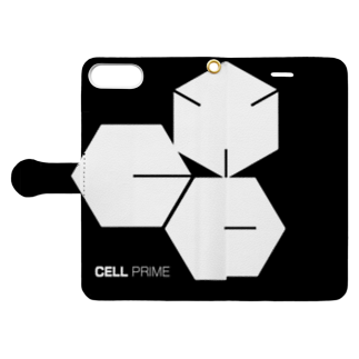 CELL PRIMEのCELLPRIME Book-style smartphone caseを開いた場合(外側)