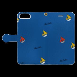 Tania NobukovskiのSAIL AWAY Book-style smartphone caseを開いた場合(外側)