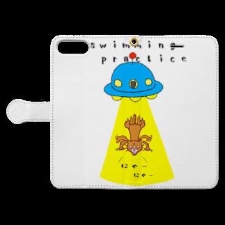 ひよこねこ ショップ 1号店のUFO Book-style smartphone caseを開いた場合(外側)