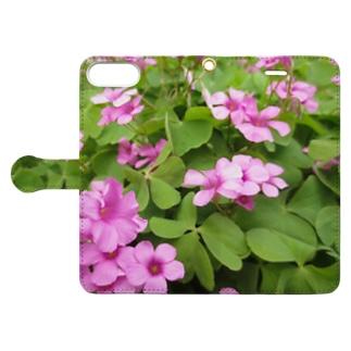 草原の天使 Book-style smartphone case
