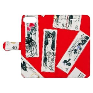 中華人民共和国の切手:中国画 Book-style smartphone case