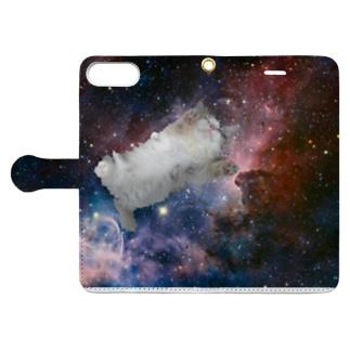 スペースキャット Book-style smartphone case
