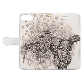 菌類の森 Book-style smartphone case