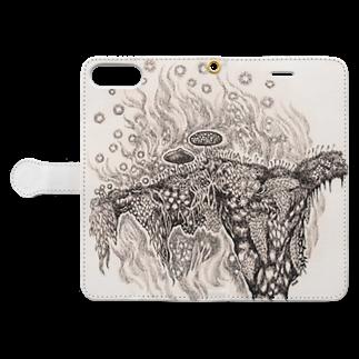 どろーいんぐ屋の菌類の森 Book-style smartphone caseを開いた場合(外側)