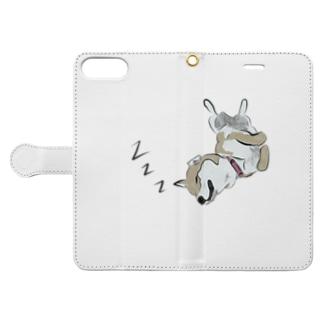 夢見る柴犬 Book-style smartphone case