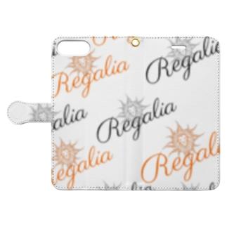 REGALIAのRegalia モノグラム Book-style smartphone caseを開いた場合(外側)