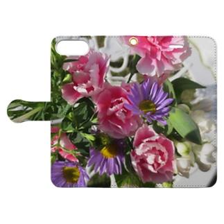 お花の気持ち Book-style smartphone case