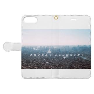 my idealのきれいなんてここにはないから シリーズ Book-style smartphone caseを開いた場合(外側)