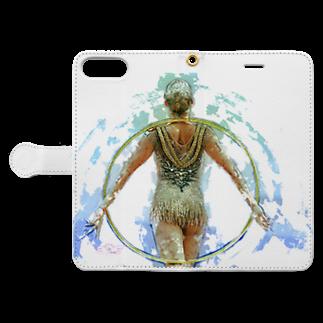 lilli-starlingの新体操ガール フープ Book-style smartphone caseを開いた場合(外側)