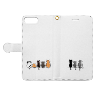 Moonの歴代にゃんず Book-style smartphone caseを開いた場合(外側)