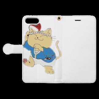タマのちょびりげ❣️の踊り猫 Book-style smartphone caseを開いた場合(外側)