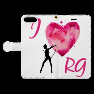 lilli-starlingのI♡RG フープ Book-style smartphone caseを開いた場合(外側)