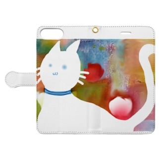 BLACK Apple cat Book-style smartphone case