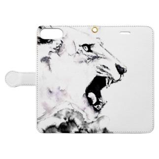 シシカバぐっずの虎 Book-style smartphone caseを開いた場合(外側)