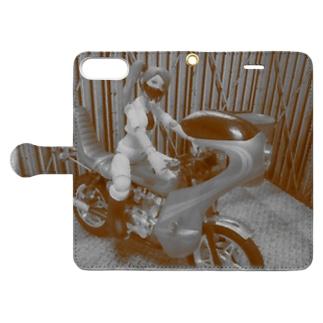 ヤンキーバイク乗りの女 Book-style smartphone case
