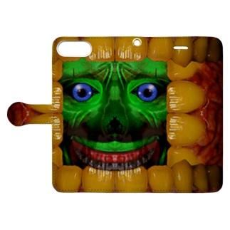 歯茎皺さん Book-style smartphone case